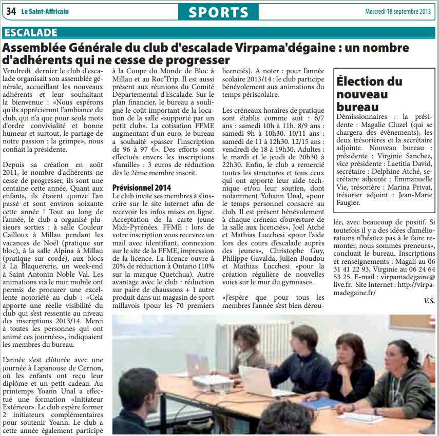 article saint affricain 18-09-2013